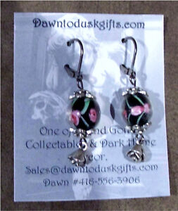 Handmade assorted glass/pewter Earrings~ One of a Kind!