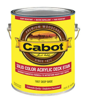 Cabot  Solid  Tintable Deep Base  Water-Based  Acrylic  Deck Stain  1 gal. Deep Base Stain