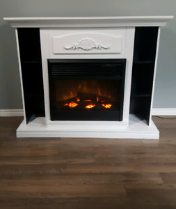 Beautiful refinished fire place