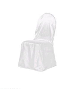 250 Satin white chair covers