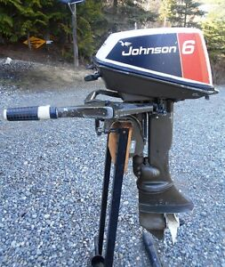 Johnson 6 Hp Outboard Boat Motor Fishing Trolling