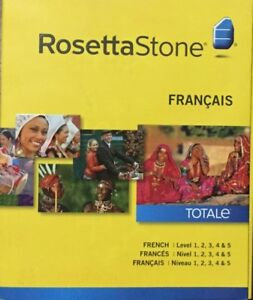 RosettaStone - French - Level 1-5 software.  New, never opened.
