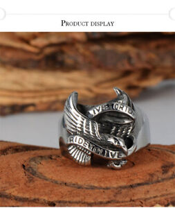 Stainless steel size 10 bikers ring 100% NEW