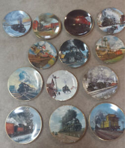 13 Ted Xaras Collector Railroad Plates CP, CN, THB, UP