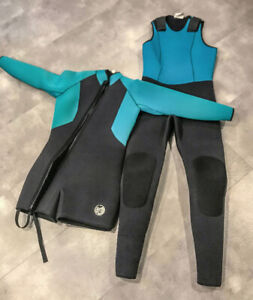 Size 12 Women's 7mm Cold Water 2 piece Wetsuit