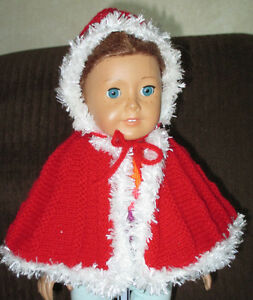AMERICAN GIRL BRAND NEW HAND KNIT 'RED RIDING HOOD' CAPE