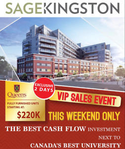 Rental Guarantee Condos From $300s - SAGE Kingston Now Selling