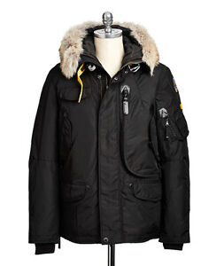 PARAJUMPERS MENS RIGHT HAND MAN PARKA BLACK LARGE