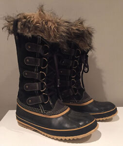 Sorel Joan Of Arctic Snow Waterproof Black Winter Boots Size 9