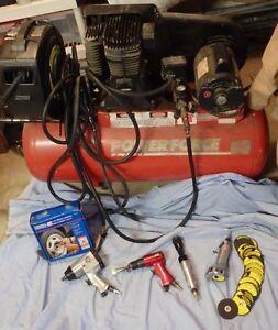 Compresseur et ensemble d'outils pneumatique