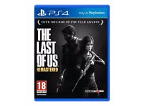 PS4 game - the Last of us Remastered - brand new - £20