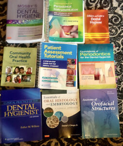 9 DENTAL HYGIENE BOOKS, very good condition, only for 300$ !!!
