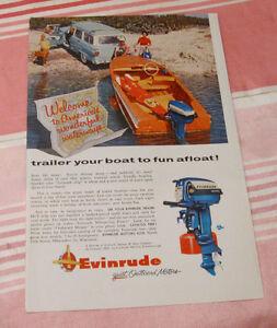 Publicité magazine #5 Evinrude 1956
