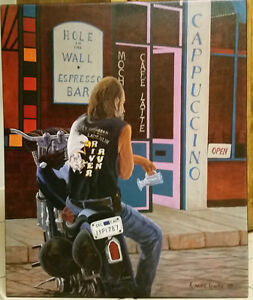 Hole In The Wall guy on a Harley by Chris Maclure