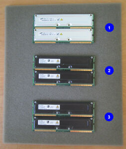 64MB, 128MB, 256MB RDRAM memory and CRIMMs, $3-$12 per pair