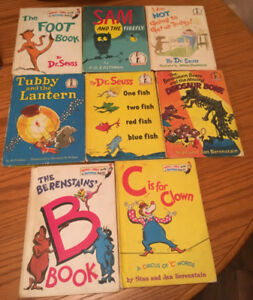 Beginner Reader Hard Cover / Matt  finish  8 titles Dr Seuss +