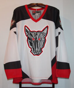 NIKE OHL MISSISSAUGA ICEDOGS HOME HOCKEY JERSEY SIZE ADULT XL
