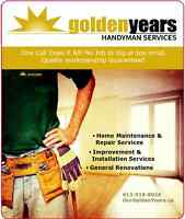 Tree Removal - Golden Years Handyman Services
