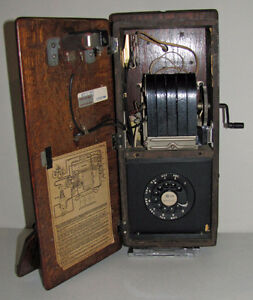 ANTIQUE NORTHERN ELECTRIC OAK WOOD WALL PHONE Kawartha Lakes Peterborough Area image 4