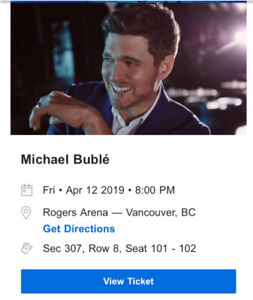 Michael Buble Tickets for Tonight!