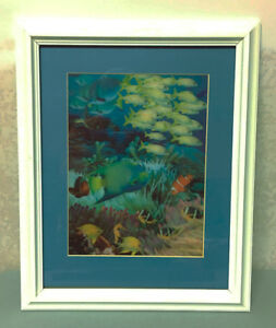 Tropical Underwater 3D Scene with Mat & Frame