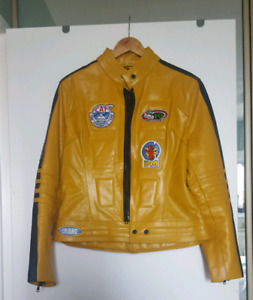 Yellow Kill Bill Leather Jacket Womens XL