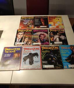THE TWILIGHT ZONE MAGAZINE 1983-1984-1985 10 pour 10$