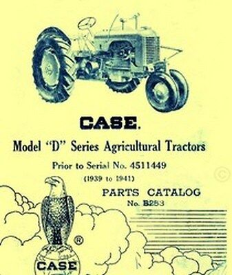 Case Model D Dc Dh Do Dv Tractor Parts Catalog Manual Serial 4402685-4404511449