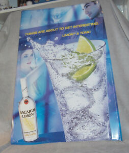 Bacardi Limon and Tonic  Tin Sign Belleville Belleville Area image 2