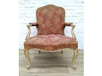 Vintage Queen Anne Style Armchair (DELIVERY AVAILABLE)