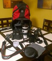Canon Rebel 40D DSLR camera kit and accessories