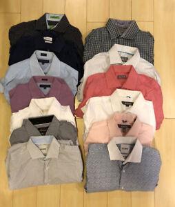 13 Mens Designer Dress Shirt Lot 15.5 Kors/Kennith Cole/CK