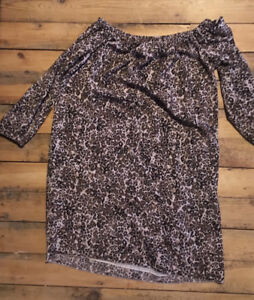 Wilfred off-shoulder dress (size small)