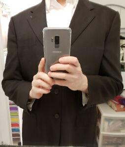 LV Harry Rosen Hugo Boss Mens Italy Suit Blazer Virgin wool