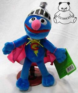 Super Grover Sesame Street Gund Plush Toy Stuffed Animal Blue Monster St BNWT S