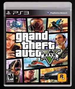 Grand Theft Auto Five Playstation 3 Game ( GTA V PS3)