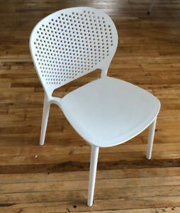 White Stacking Chair