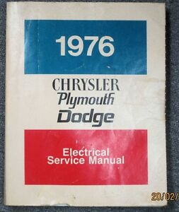 USED 1976 Plymouth Electrical Service Manual