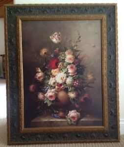 Painting of Ornate Floral Arrangement on Canvas