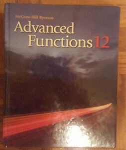 Advanced Functions Grade 12 McGraw-Hill Ryerson Text Book