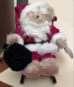Christmas Items: AvonCollectibleHatBoxTeddy; Towels,CookieJar