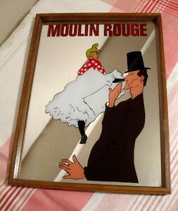 Cadre vintage miroir Moulin Rouge Toulouse Lautrec