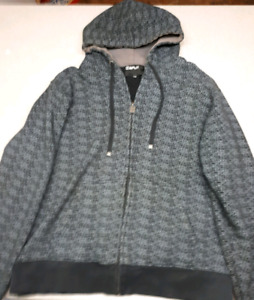 Split brand men's grey zip up hoodie size large-$10