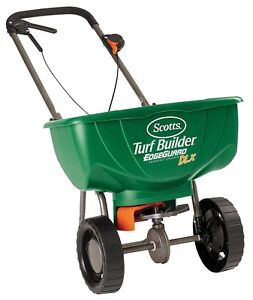Scotts Turf Builder Deluxe DX Edgeguard Rotary Spreader NEW-NEUF
