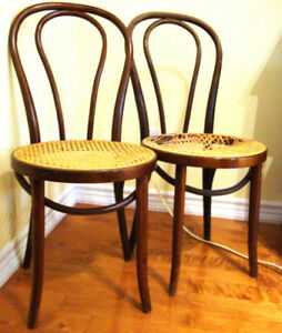 Antique Bentwood Rattan (Caned / wicker) Chair