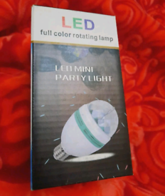 Led party light full color rotating lamp installing or changing the la