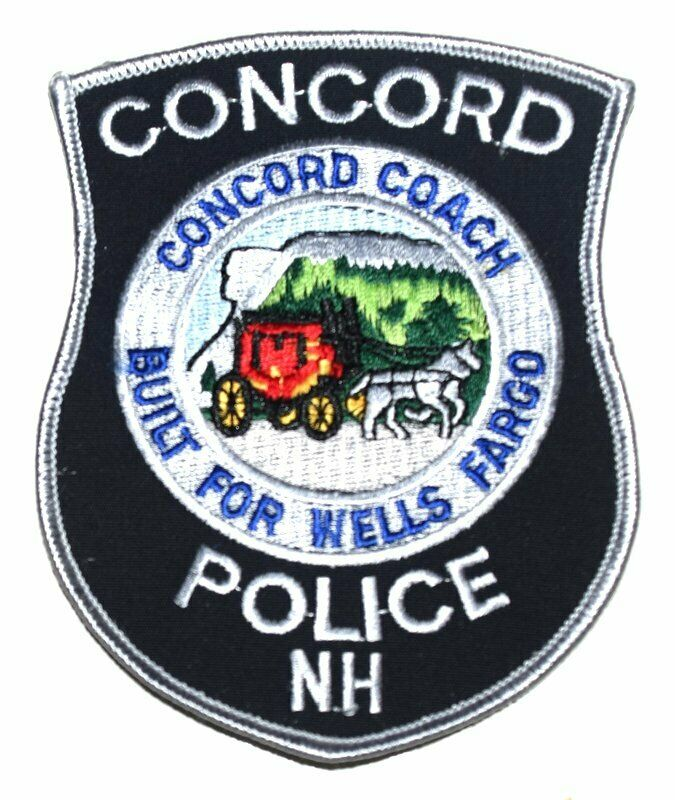 CONCORD NEW HAMPSHIRE NH Sheriff Police Patch WELLS FARGO COACH BUGGY HORSES ~