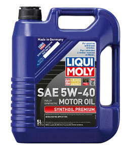 Call for Order - Liqui Moly Synthoil Premium SAE 5W40 / 5W30