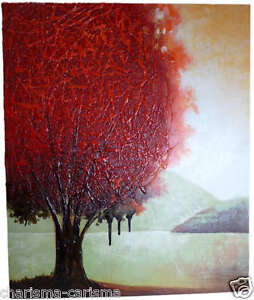 trees ABSTRACT oil PAINTING Modern CONTEMPORARY Abstract ART Canvas WALL art