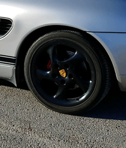 Porsche Turbo Twists Rims + Yokohama Advan Sport Tires